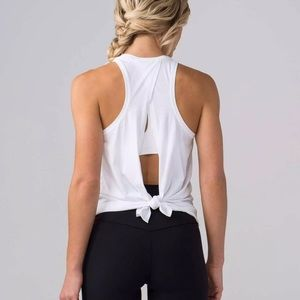 Lululemon all tied up tank white
